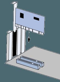instalar um mapa de extensão num slot AGP, PCI ou ISA