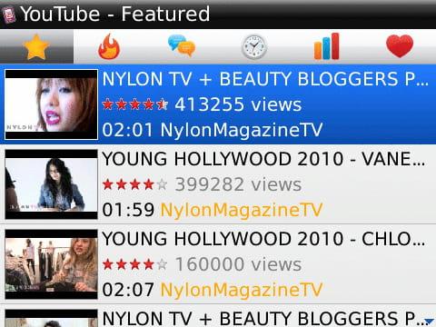 Baixar a última versão do Player For YouTube Blackberry grátis em