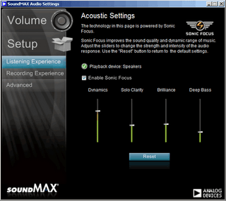 SoundMAX Integrated Digital Audio - Free download and ...