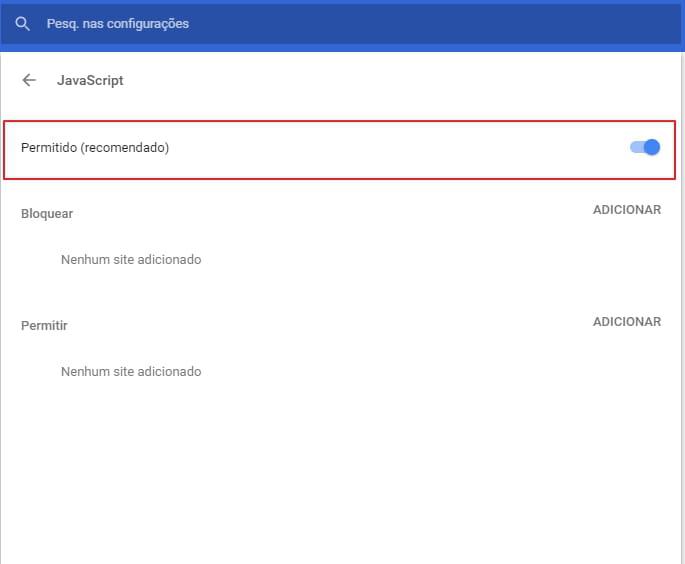 bdaf1f8e6 Você também pode usar os botões Bloquear e Permitir para gerenciar o que  será permitido ou não no seu Chrome.