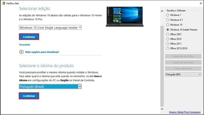 Como baixar a imagem ISO do Windows 10