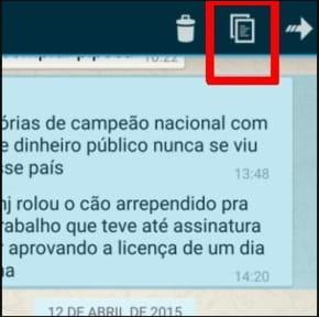 Android Copiar E Colar Mensagens No Whatsapp Messenger