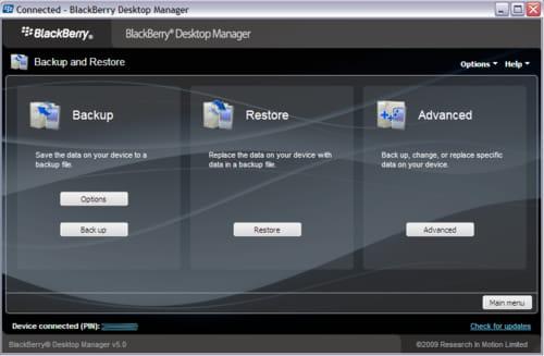 Baixar a última versão do BlackBerry Desktop Software para