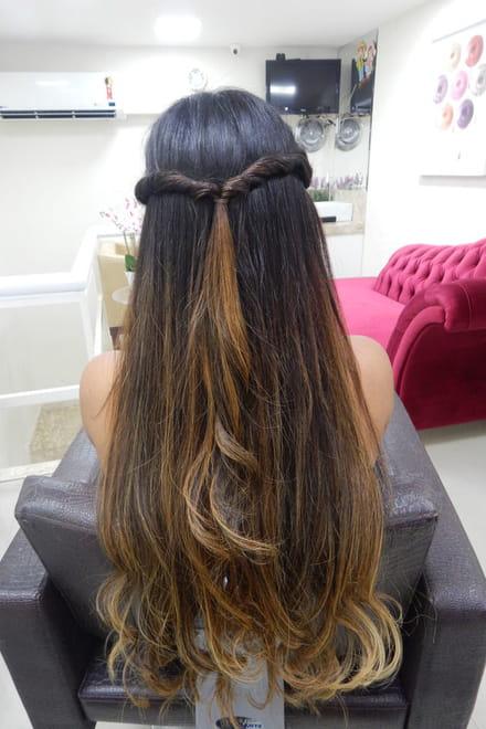 Penteado Fácil Em Cabelo Com Mega Hair