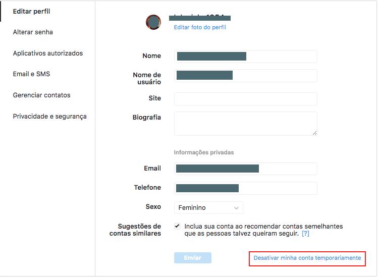 e915399b9f No menu suspenso que aparece, selecione uma opção ao lado da pergunta Por  que você está desativando sua conta? e redigite a sua senha.