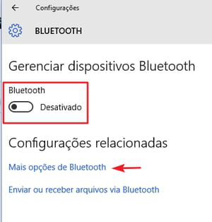 activar bluetooth windows 10
