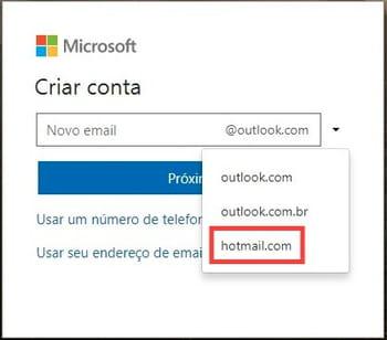 Criar uma conta do hotmail agora crie a sua senha e clique em prximo stopboris Choice Image