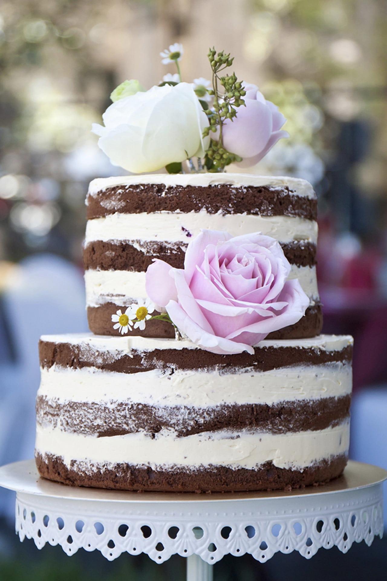 36 Naked Wedding Cakes for Stylish Celebrations - hitched