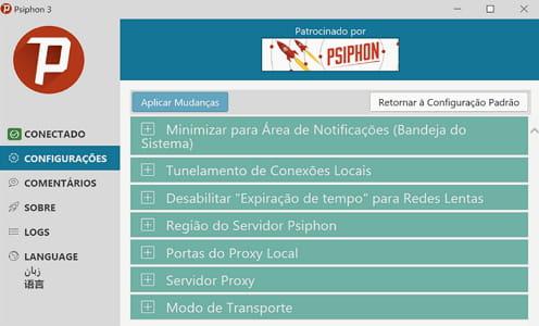 Baixar a última versão do Psiphon grátis em Português no CCM