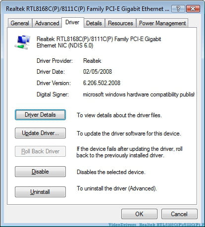 Driver controlador de rede 168c-0032 nodb pci