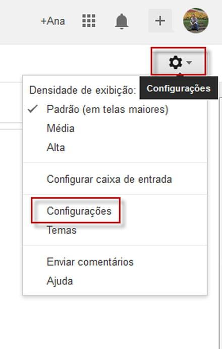 Como ativar o painel de visualizao no gmail entre na sua conta do gmail e clique no boto em forma de roda dentada e selecione configuraes stopboris Gallery