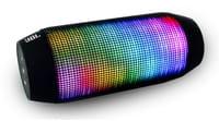 Caixa de som portátil muda de cor