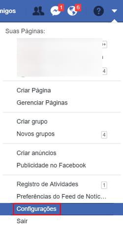 Facebook  mudar sua senha e9bdd0ff39c
